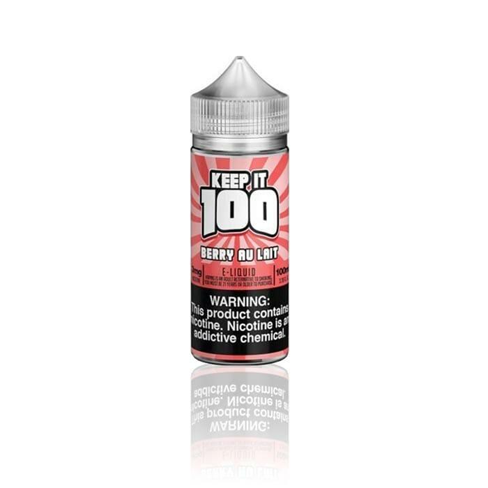 Keep It 100 - Berry Au Lait (Strawberry Milk) 100mL