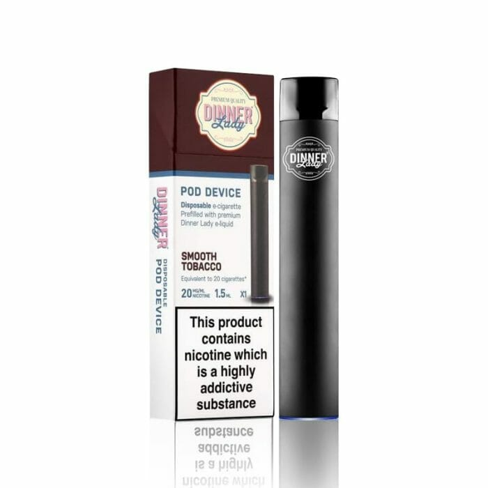 Dinner Lady Disposable Vape Device - 1.5mL Tobacco